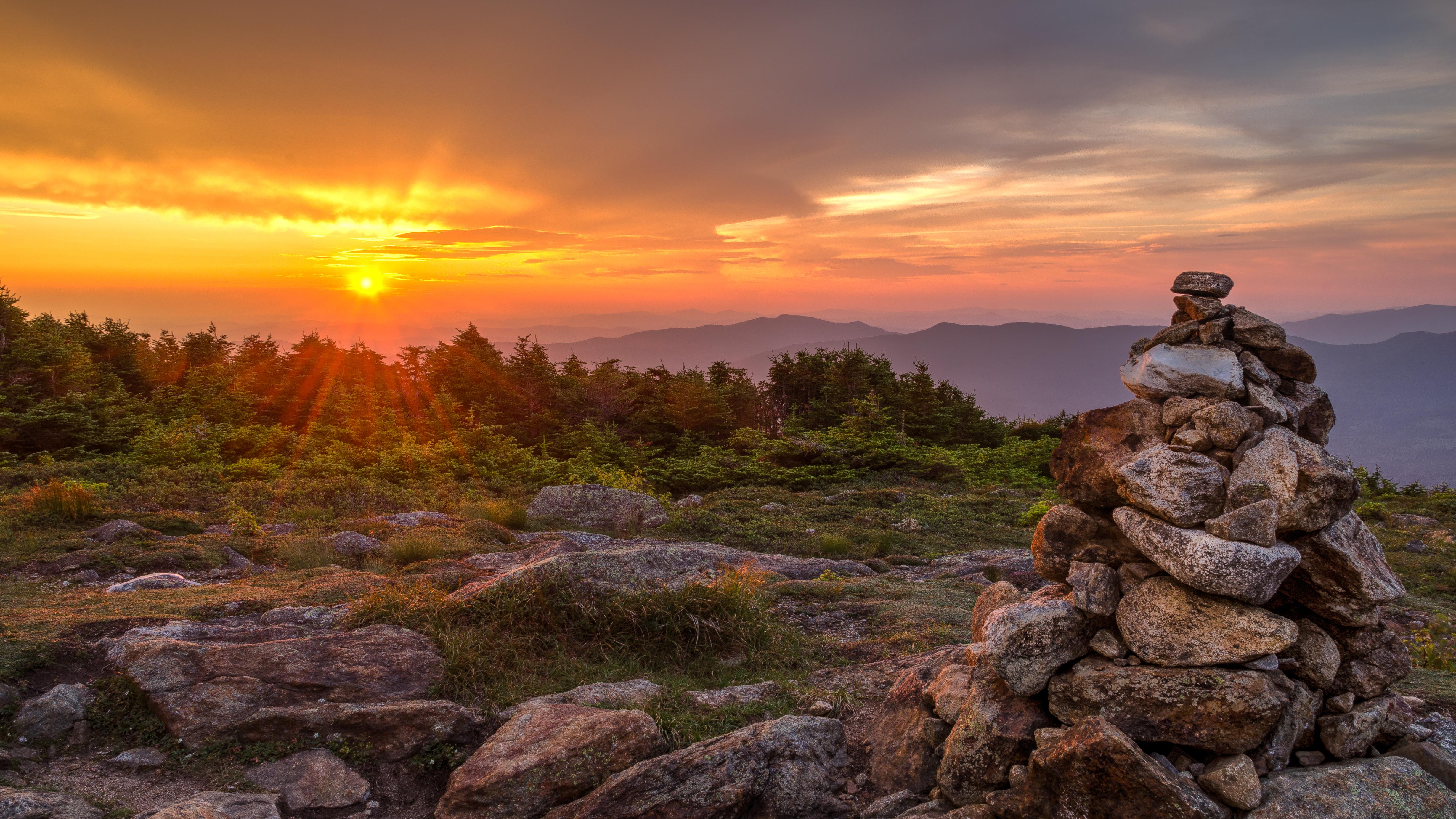 Sunrise on a mountain top